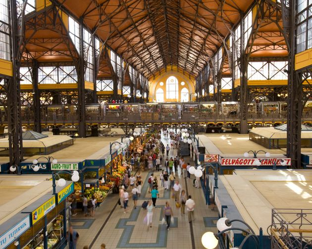 The Great Market Hall or Central Market Hall is the largest indoor market in Budapest.