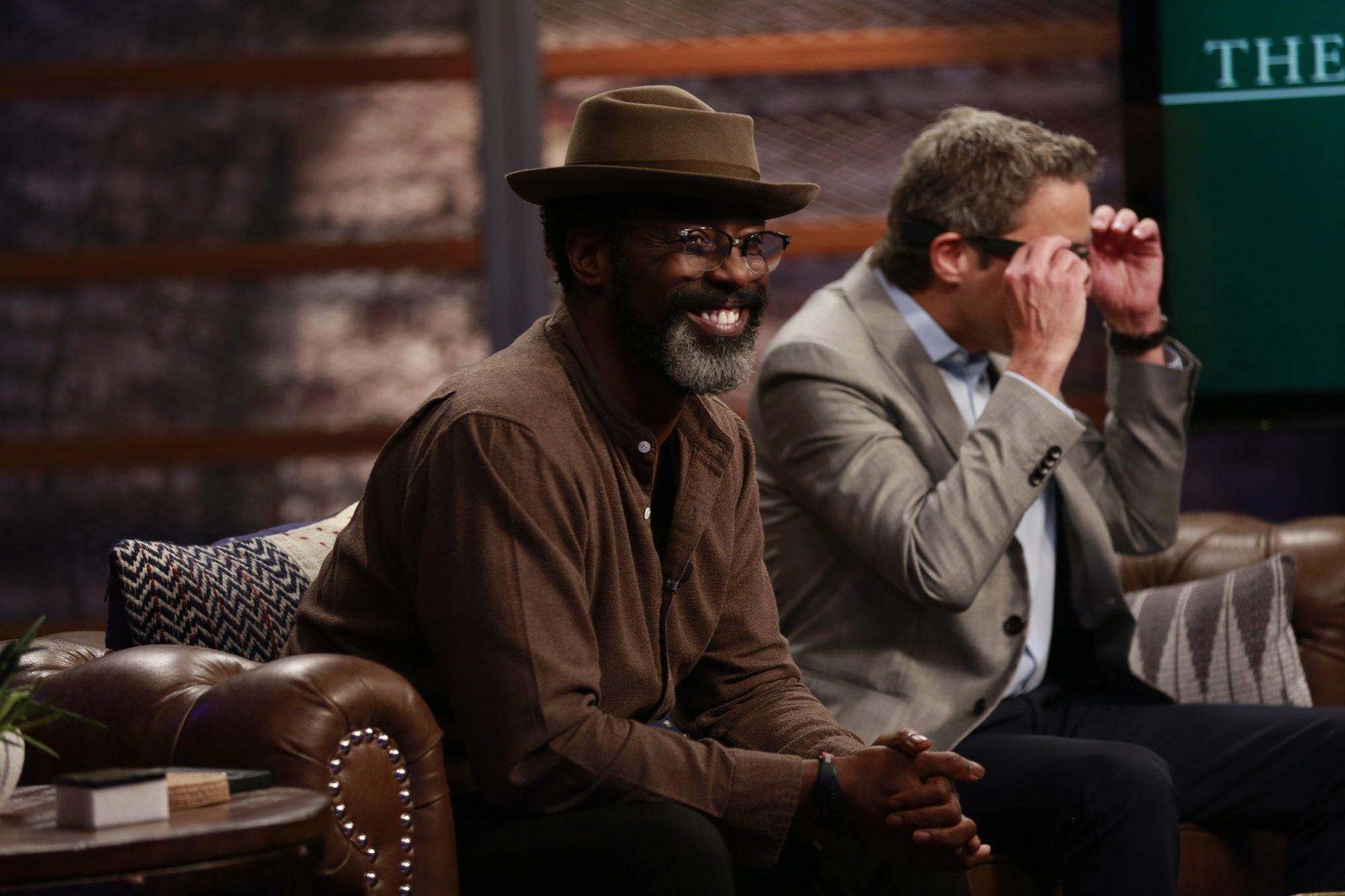 """Isaiah Washington appears on """"The HuffPost Show"""" on April 10, 2015."""