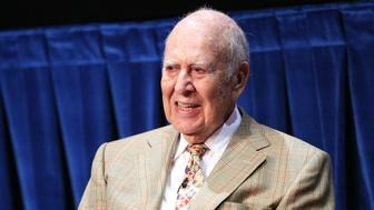 BEVERLY HILLS, CA - JULY 16:  Actor Carl Reiner speaks onstage during a 'Salute To Sid Caesar' at The Paley Center for Media on July 16, 2014 in Beverly Hills, California.  (Photo by Imeh Akpanudosen/Getty Images)