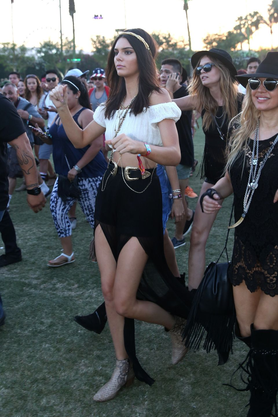 Kendall Jenner attends the 2015 Coachella Music and Arts Festival on Saturday, April 11, 2015, in Indio, Calif. (Photo by Ric