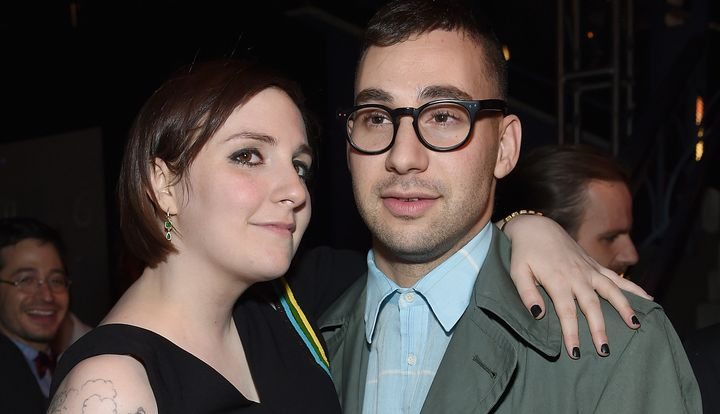 NEW YORK, NY - JANUARY 05:  Lena Dunham and Jack Antonoff  attend the 'Girls' season four series premiere after party at The