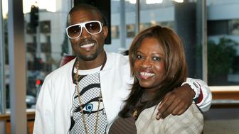 LOS ANGELES - MAY 9:  Author Donda West (R) and her son, hip-hop performer Kanye West atend a book signing for her book 'Raising Kanye: Life Lessons from the Mother of a Hip-Hop Superstar' on May 9, 2007 at Borders in Los Angeles, California. (Photo by Vince Bucci/Getty Images}