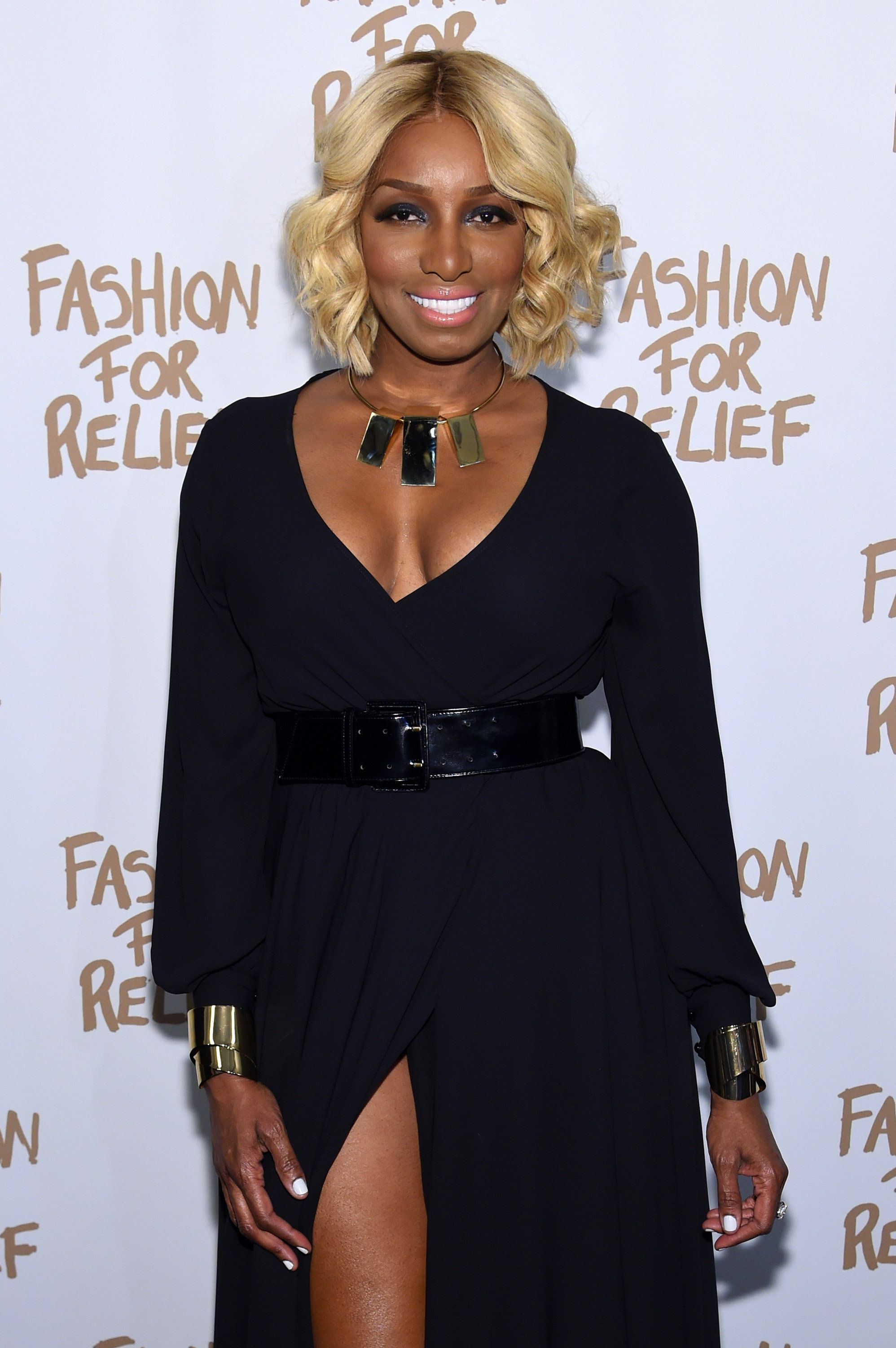 NEW YORK, NY - FEBRUARY 14:  NeNe Leakes attends Naomi Campbell's Fashion For Relief Charity Fashion Show during Mercedes-Benz Fashion Week Fall 2015 at The Theatre at Lincoln Center on February 14, 2015 in New York City.  (Photo by Jamie McCarthy/Getty Images For Fashion For Relief)