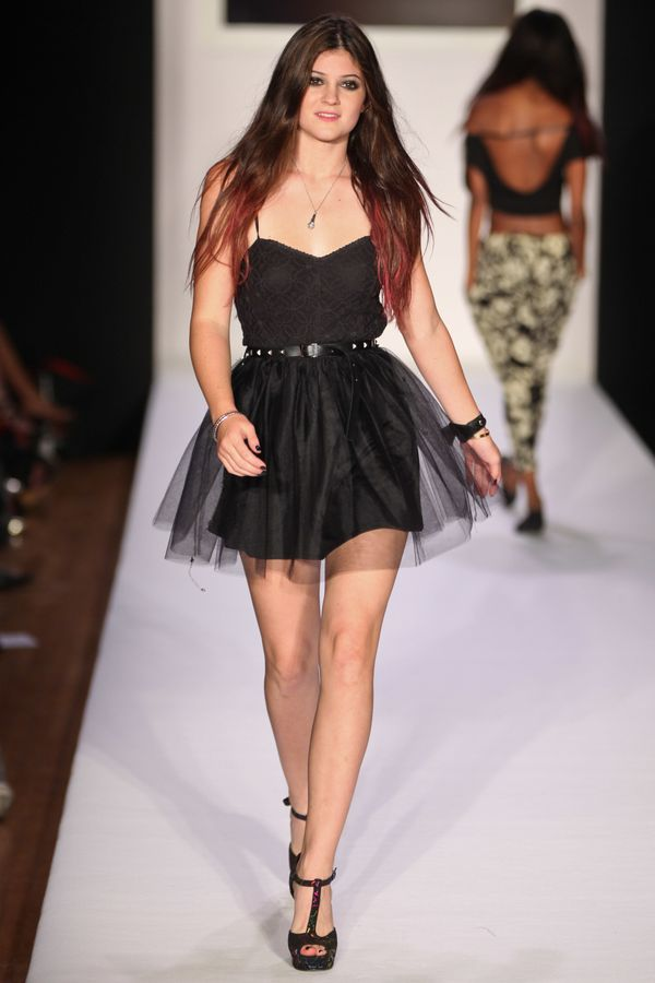 Walkingthe runway at the Abbey Dawn by Avril Lavigne Fashion Show on Sept. 12, 2011 in New York City, NY.