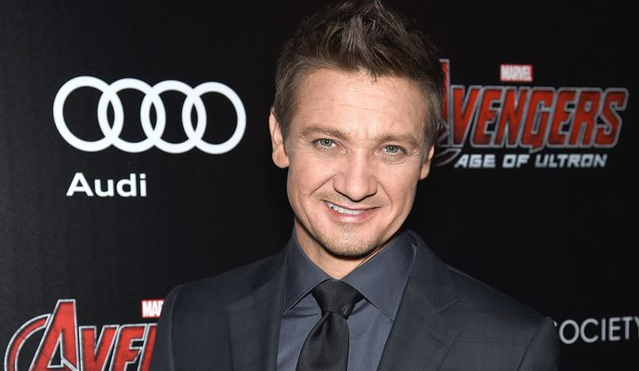 Actor Jeremy Renner told Playboy magazine he laughs off rumors that he's gay. Photo by Dimitrios Kambouris/Getty Images
