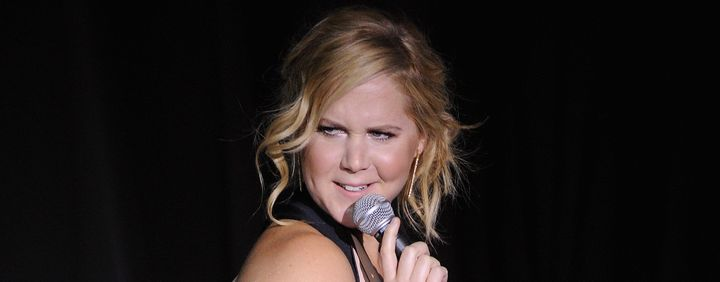 NEW YORK, NY - NOVEMBER 05:  Comedian Amy Schumer speaks onstage at NRDC's 'Night Of Comedy' benefiting the Natural Resources