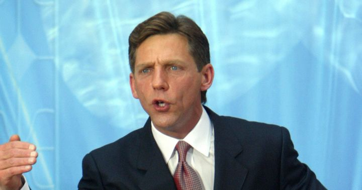 MADRID, SPAIN:  US Chairman of the Board Religious Technology Center David Miscavige speaks during the inauguration of the Ch