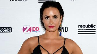 """NEW YORK, NY - JULY 01:  Singer-songwriter Demi Lovato attends Demi Lovato's Debut of her New Single, """"Cool for the Summer,"""" with Z100 at Gansevoort Park Avenue on July 1, 2015 in New York City.  (Photo by Ben Gabbe/Getty Images for Gansevoort Hotel Group)"""