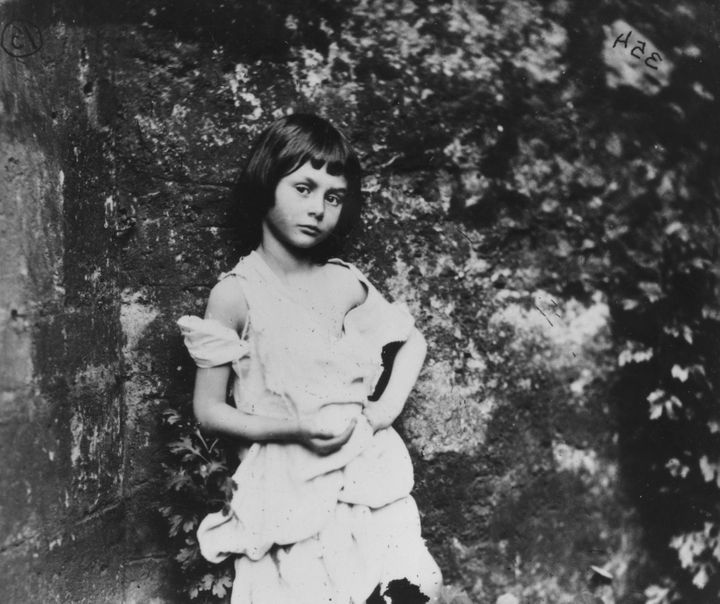 1858:  Alice Liddell (1852 - 1934), the inspiration for Lewis Carroll's fictional character Alice in 'Alice in Wonderland'. S
