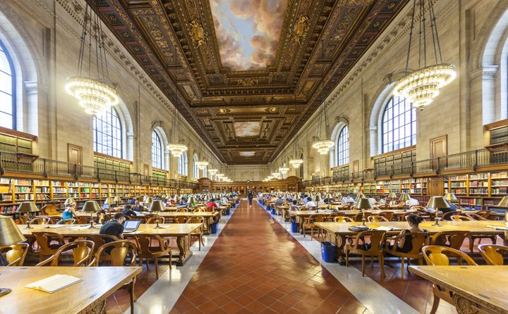 The magnificent Rose Main Reading Room at the Stephen A. Schwarzman Building in New York City.