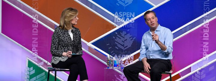 <span>Arianna Huffington and Tony Marx at the 11th annual Aspen Ideas Festival in June 2015.</span>