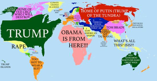 The World Map as Perceived by Donald Trump.