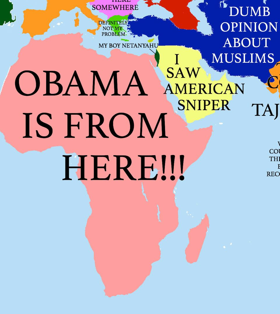 across the atlantic from trump is a continent called obama is from here it neighbors the middle east an area of the world that has been graced by the