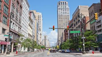 Woodward Avenue in downtown Detroit is a part of the city that is quickly being revitalized. Along this avenue are many new developments and business.