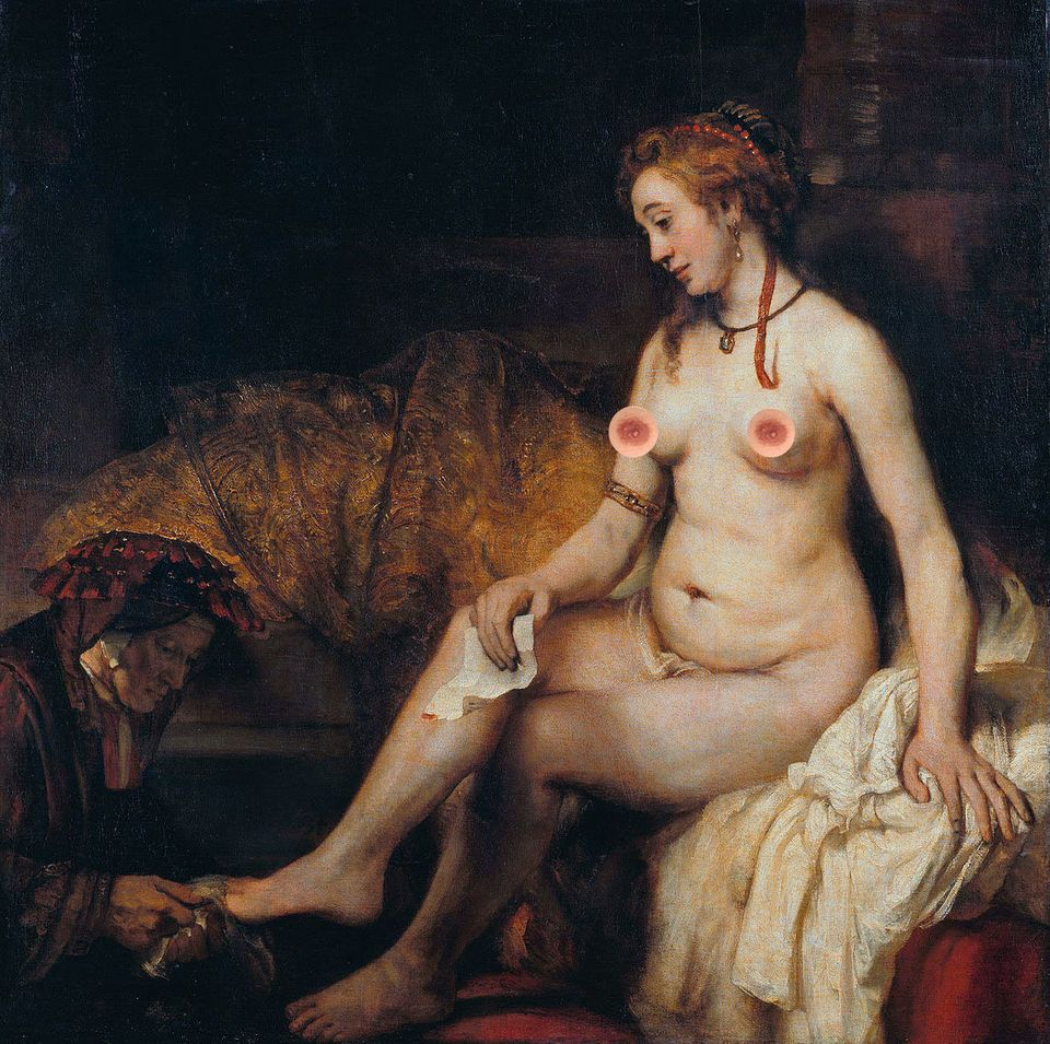 "Rembrandt's ""Bathsheba with David's letter"""