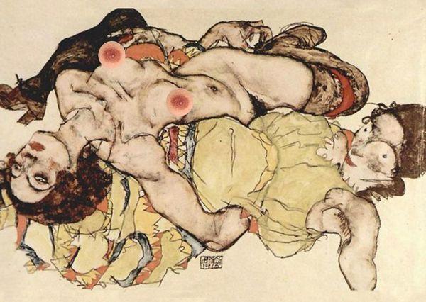 """Egon Schiele's """"Two Women"""""""