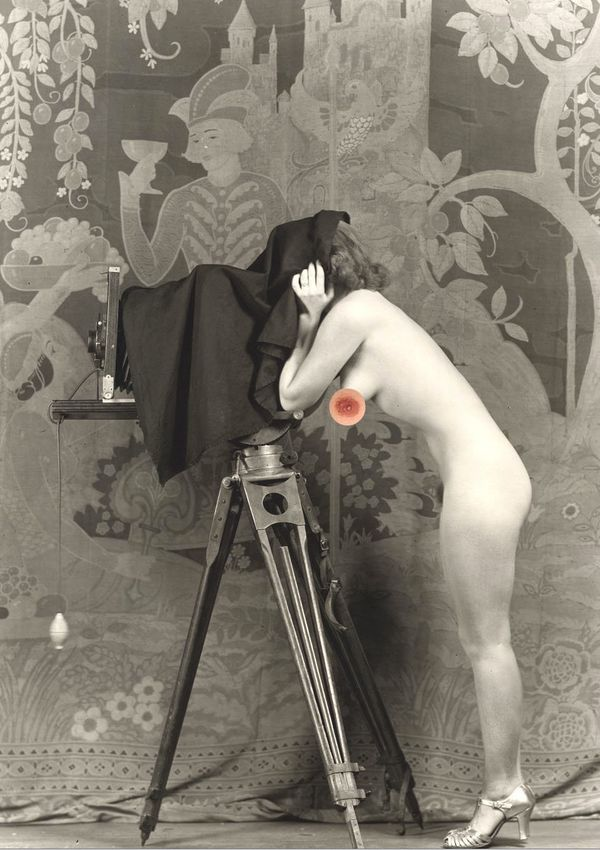 "Alfred Cheney Johnston's ""Woman with camera"""