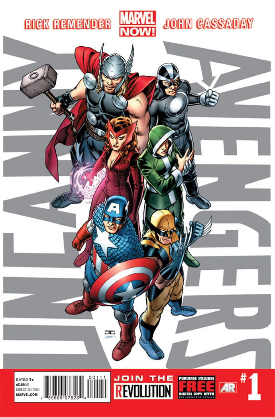 "This image provided by Marvel Entertainment shows the cover of the first issue of ""Uncanny Avengers."" In comics, the first is"