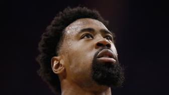 HOUSTON, TX - MAY 04:  DeAndre Jordan #6 of the Los Angeles Clippers waits on the court in their game against the Houston Rockets during Game One in the Western Conference Semifinals of the 2015 NBA Playoffs on May 4, 2015 at the Toyota Center in Houston, Texas. NOTE TO USER: User expressly acknowledges and agrees that, by downloading and/or using this photograph, user is consenting to the terms and conditions of the Getty Images License Agreement.  (Photo by Scott Halleran/Getty Images)