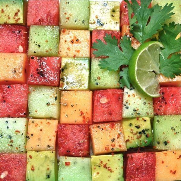 "<strong>Get the <a href=""http://food52.com/recipes/17924-avocado-mellon-salad"" target=""_blank"">Avocado and Melon Salad recipe"