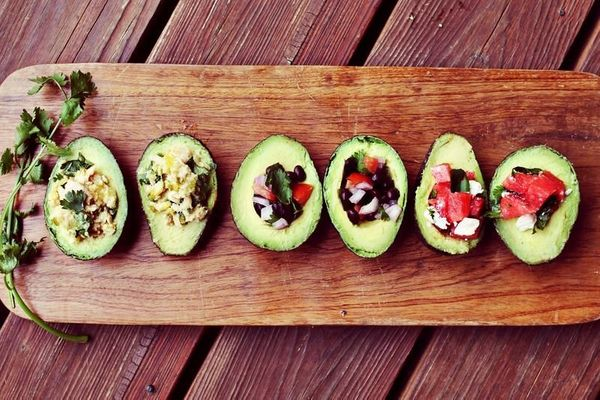 "<strong>Get the <a href=""http://www.abeautifulmess.com/2012/07/avocado-salad-3-ways.html"" target=""_blank"">Avocado Salad 3 Way"