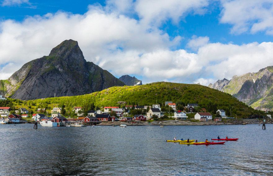 """Chances are slim that you'll find Wi-Fi when you<a href=""""http://www.huffingtonpost.com/2014/11/06/reine-norway-fishing-"""