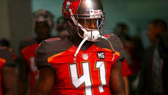 Tampa Bay Buccaneers defensive back C.J. Wilson (41) waits to walk out of the tunnel at the start of an NFL football game against the New Orleans Saints on Sunday, Dec. 28, 2014, in Tampa, Fla. (AP Photo/Brian Blanco)