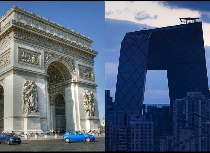 <strong>Then: </strong>The Arc de Triomphe squints down the Champs Elysee like a slightly befuddled old cyclops trying, and f
