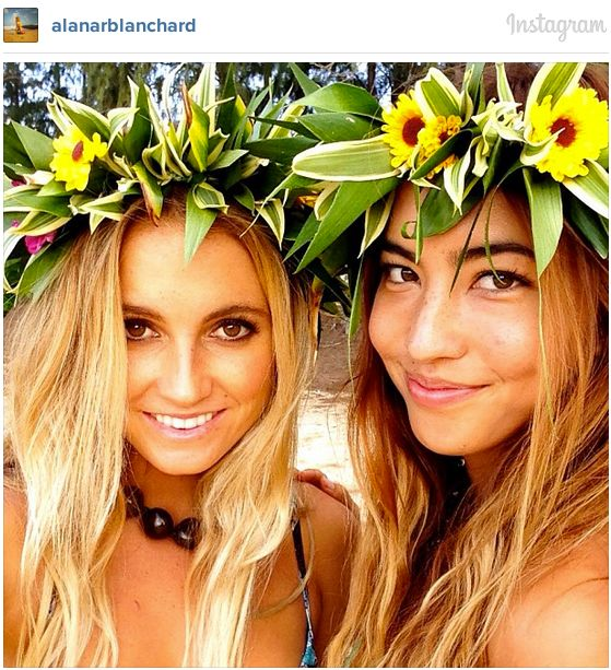 Wear flowers in your hair.
