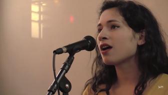 "Melissa Lozada-Oliva performing ""My Spanish"""