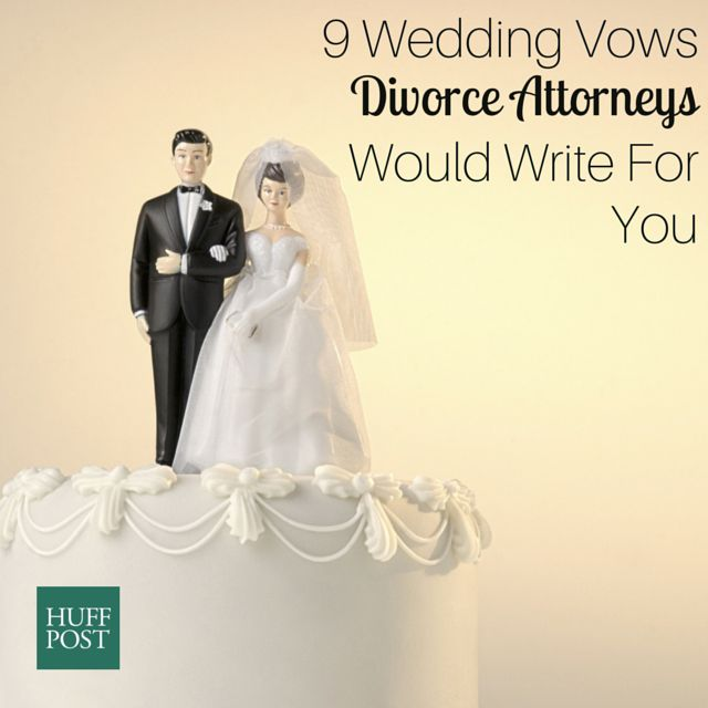 9 wedding vows divorce attorneys would write for you huffpost they may not seem like die hard romantics but divorce lawyers are surprisingly well suited to the job of writing wedding vows after all theyve seen junglespirit Gallery