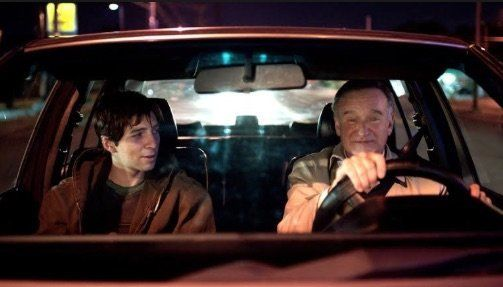 """Roberto Aguire (left) as Leo and Robin Williams as Nolan Mack in """"Boulevard."""""""