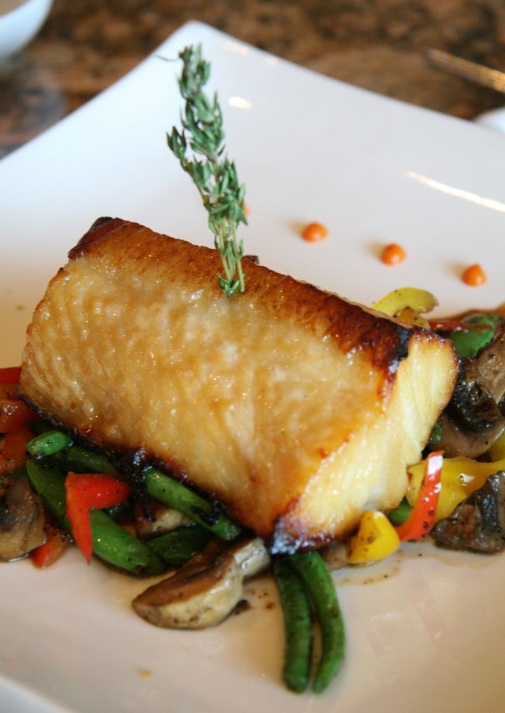 SLUG: PG-Flavors DATE: January 4, 2007 CREDIT: James M. Thresher / TWP. Bowie, MD New Asian fusion restaurant, Grace's, in Vista Gardens Marketplace. Grilled Chilean Sea Bass. 187182  (Photo by James M. Thresher/The Washington Post/Getty Images)