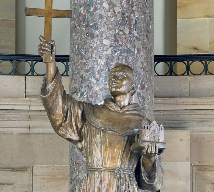 <span>This statue of Father Junipero Serra was given to the National Statuary Hall Collection by California in 1931.</span>