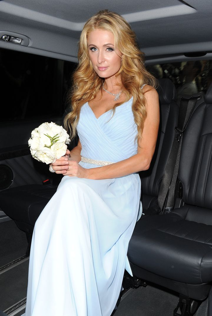 Paris Hilton was a bridesmaid in sister Nicky's wedding at Kensington Palace.