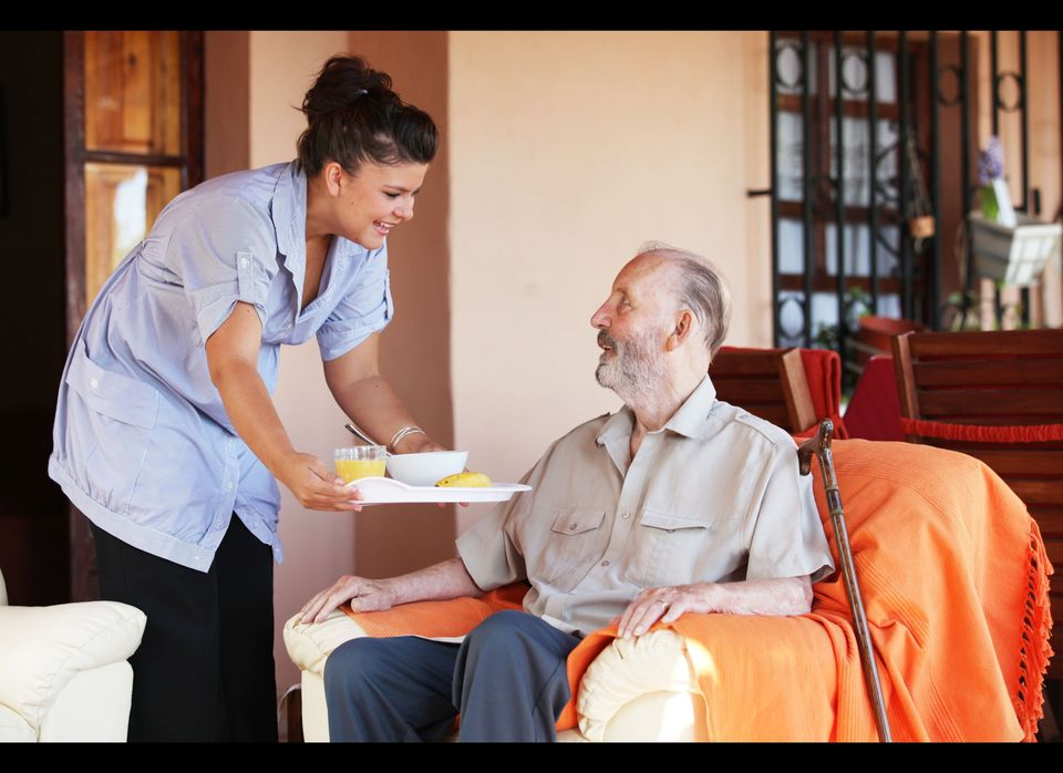 "One of the first decisions in choosing an elderly caregiver is deciding whether to <a href=""http://www.caring.com/articles/hi"