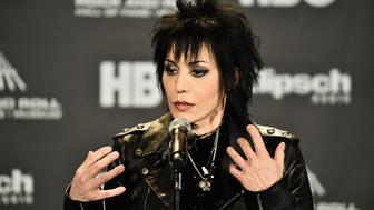 CLEVELAND, OH - APRIL 18:  Inductee Joan Jett of Joan Jett and The Blackhearts attends the 30th Annual Rock And Roll Hall Of Fame Induction Ceremony at Public Hall on April 18, 2015 in Cleveland, Ohio.  (Photo by Michael Loccisano/Getty Images)