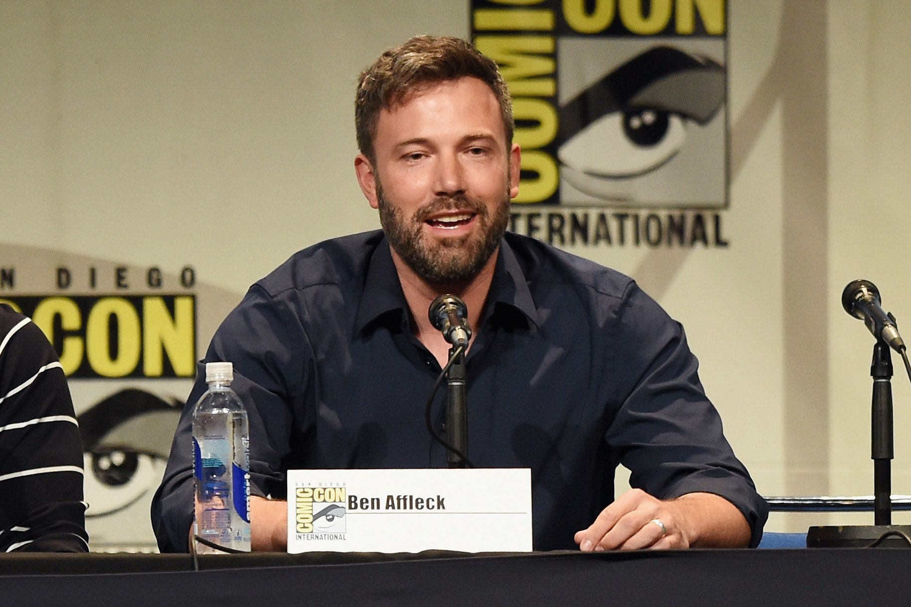 SAN DIEGO, CA - JULY 11:  Actor Ben Affleck from 'Batman v. Superman: Dawn of Justice' attends the Warner Bros. presentation during Comic-Con International 2015 at the San Diego Convention Center on July 11, 2015 in San Diego, California.  (Photo by Kevin Winter/Getty Images)