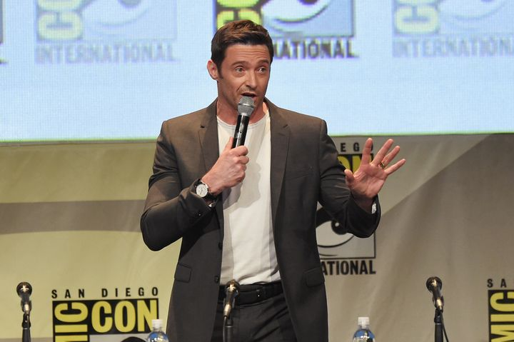 SAN DIEGO, CA - JULY 11:  Actor Hugh Jackman speaks onstage at the 20th Century FOX panel during Comic-Con International 2015