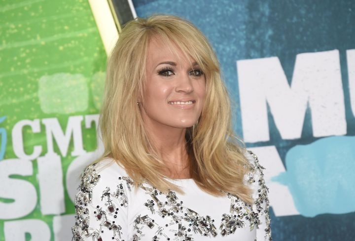 NASHVILLE, TN - JUNE 10:  Singer Carrie Underwood attends the 2015 CMT Music awards at the Bridgestone Arena on June 10, 2015