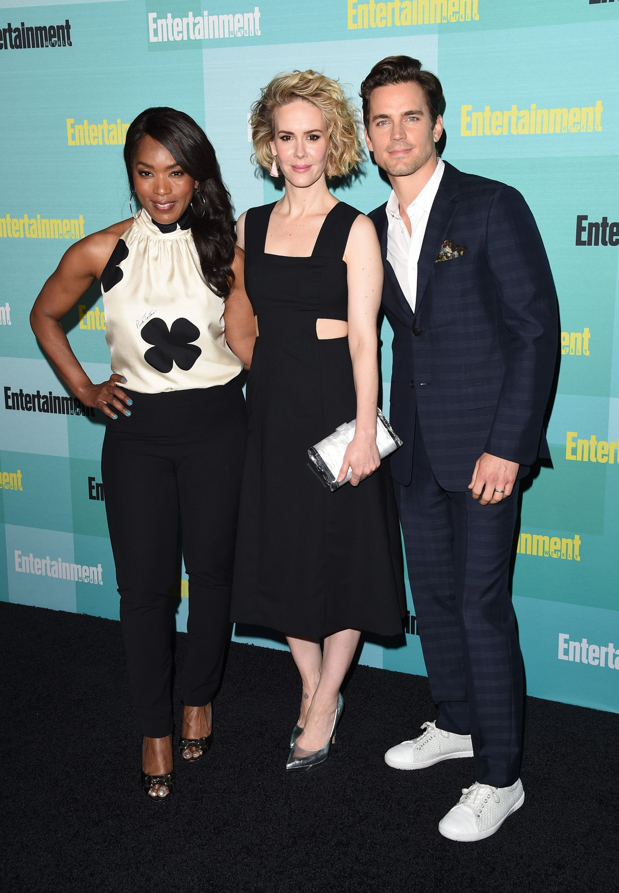 SAN DIEGO, CA - JULY 11:  (L-R) Actors Angela Bassett, Sarah Paulson and Matt Bomer attend Entertainment Weekly's Comic-Con 2015 Party sponsored by HBO, Honda, Bud Light Lime and Bud Light Ritas at FLOAT at The Hard Rock Hotel on July 11, 2015 in San Diego, California.  (Photo by Jason Merritt/Getty Images for Entertainment Weekly)