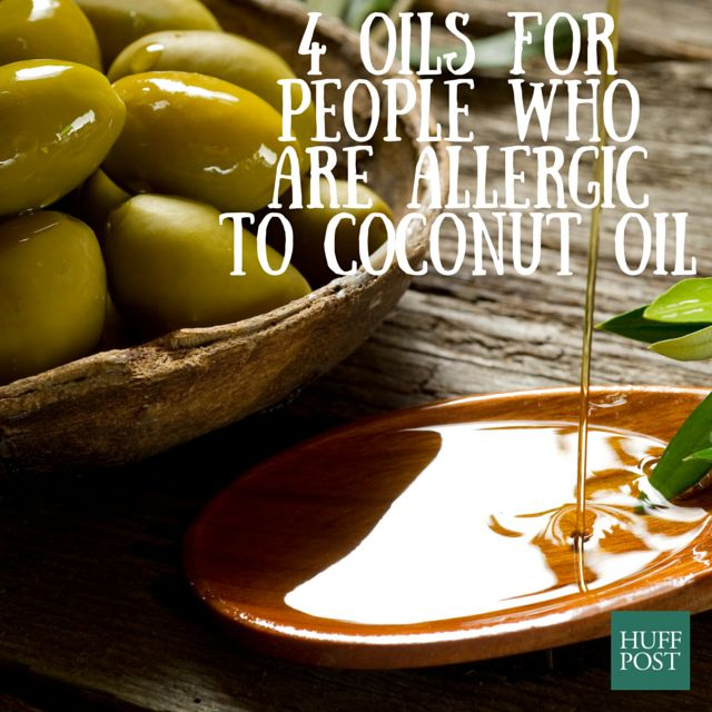 Oils for people who are allergic to coconut oil