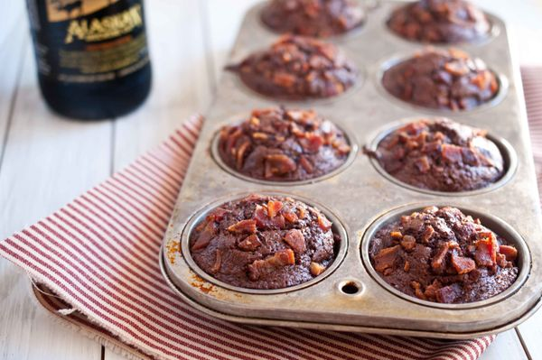 "<strong>Get the <a href=""http://thebeeroness.com/2012/01/24/chocolate-bacon-porter-muffins/"" target=""_blank"">Chocolate Bacon"
