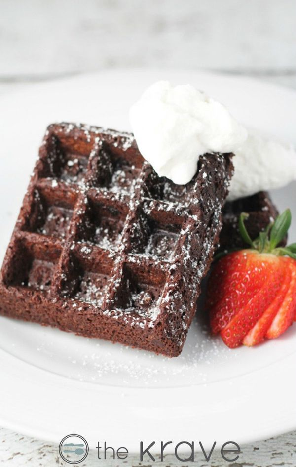 "<strong>Get the <a href=""http://thekrave.com/double-chocolate-waffle-brownies/"" target=""_blank"">Double Chocolate Waffle"