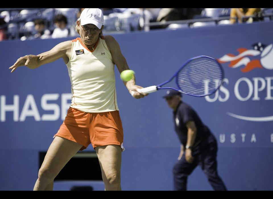 "Just shy of her 50th birthday, tennis legend Martina Navratilova won a mixed doubles championship at the U.S. Open. ""You can"