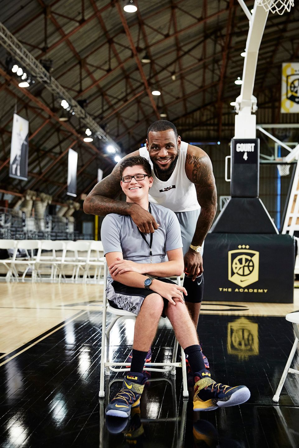 LeBron James pictured with Matthew Walzer