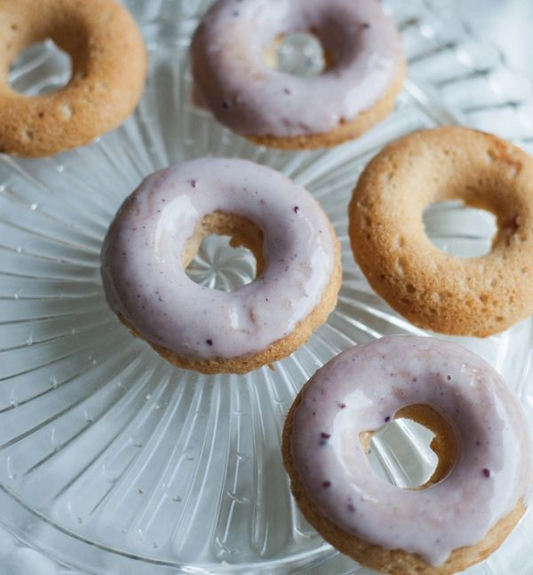 """<strong>Get the <a href=""""http://willfrolicforfood.com/2014/08/black-raspberry-iced-cardamom-cake-donuts-vegan-gluten-free.htm"""