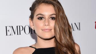 BEVERLY HILLS, CA - SEPTEMBER 26:  Kaia Gerber attends the 12th Annual Teen Vogue Young Hollywood Party with Emporio Armani on September 26, 2014 in Beverly Hills, California.  (Photo by Michael Buckner/Getty Images for Teen Vogue)