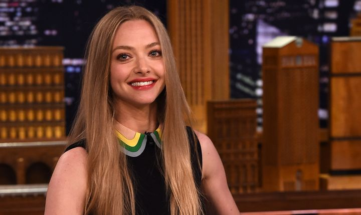 NEW YORK, NY - JUNE 05:  Amanda Seyfried Visits 'The Tonight Show Starring Jimmy Fallon' at Rockefeller Center on June 5, 201