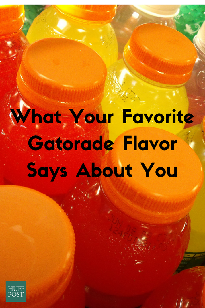What Your Favorite Gatorade Flavor Says About You Huffpost Life